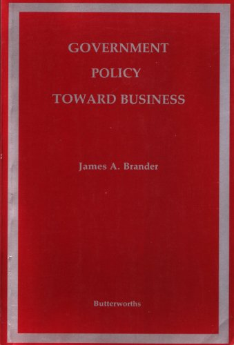 Government Policy Toward Business