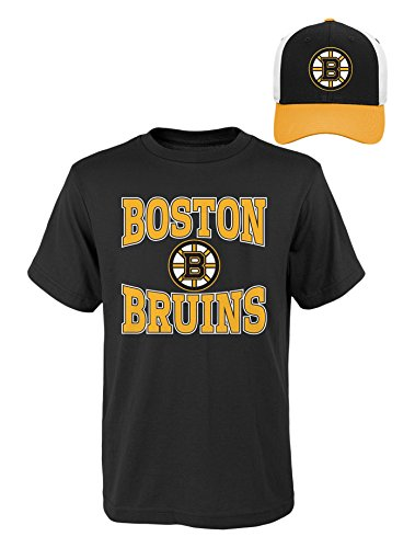 Nhl Youth Hat - NHL Youth Boys 8-20 Bruins Tee & Hat Set, S(8), Assorted