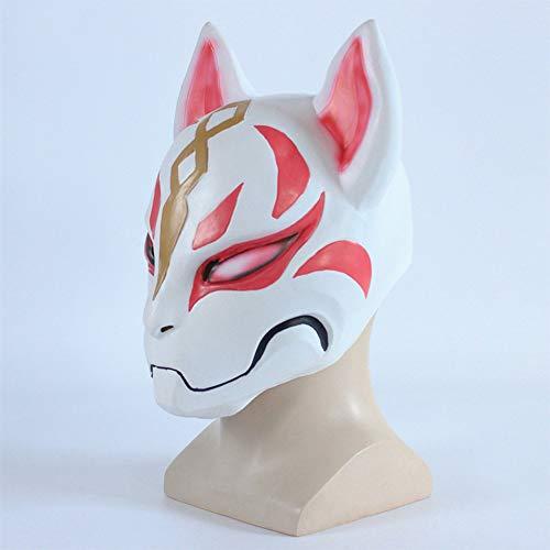 Zhanghaidong Mask 3D Printed Cosplay Latex Helmet for Halloween Fox Mask Game Fortress Night Around Cos Halloween Dress Up Ball]()