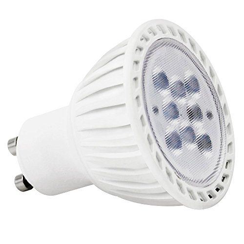 UL-Listed 7W (60W Equivalent) GU10 LED Light Bulb 5000K Daylight, 500lm, 36 Degree GU10 Base Spotlight Bulb for Recessed, Accent, Track and Landscape Lighting, Non-Dimmable