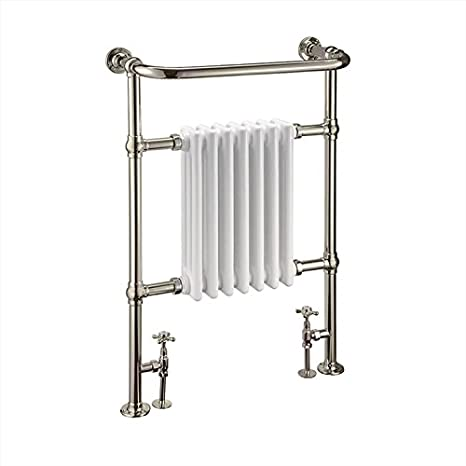 Nostalgie Retro Tradicional Bar Radiador, Radiador-calentador de toallas Lansdowne, Níquel: Amazon.es: Hogar