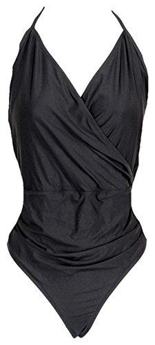 J Crew Halter Wrap One-Piece Swimsuit Style# B5816 Black New Size 2