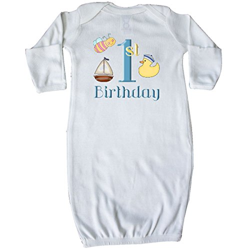 inktastic 1st Birthday Nautical Newborn Layette White (Ducky Sleeper)