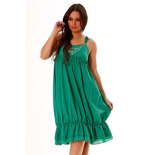 Miss Wear Line Damen Kleid Grün Grün