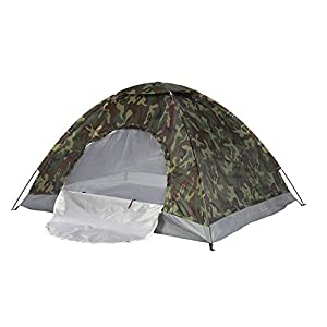 PetHot Camping Tent Waterproof 2-3 Person Camouflage Fishing Hunting Tent 200cm x 150cm x 110cm