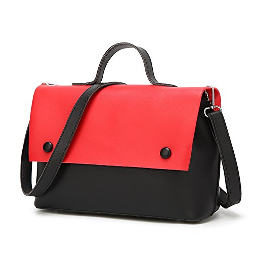 Pu Mother Shoulder Color Fringe Retro Bag Messenger Bag Square Red Magnetic Hit Leisure Simple q4B6w