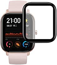 Shan-S for AMAZFIT GTS Smart Watch Screen Protector, 3D Full Coverage Waterproof Tempered Glass for AMAZFIT GT
