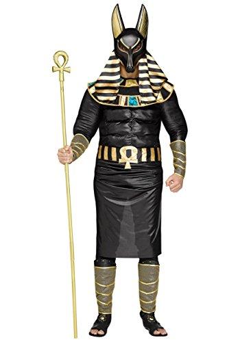 Fun World Men's Anubis Plsz Muscle Costume, Multi,