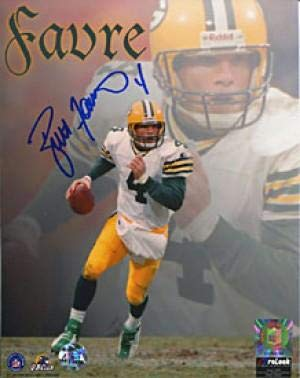 - Brett Favre Autographed 8x10 Photo- Running Collage - Autographed NFL Photos