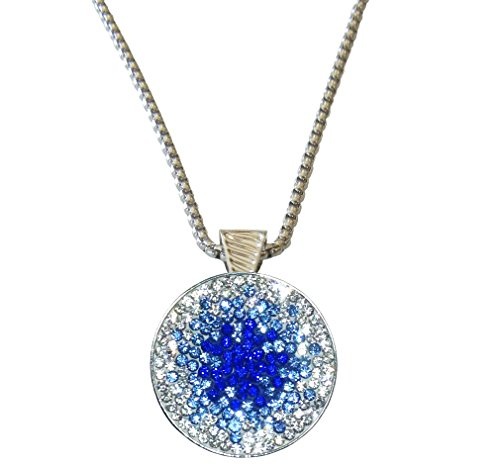 Paris at Night Micro Pave Crystals Ball Marker Magnetic Necklace