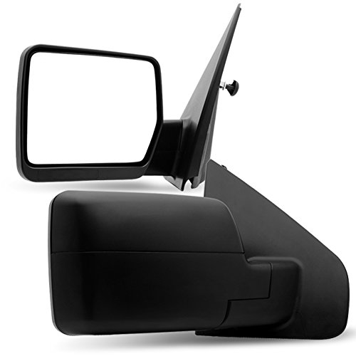 Cheap 04-06 Ford F150 F-150 Pickup Truck Extendable Towing Manual Mirrors Left + Right Side Replacement for cheap