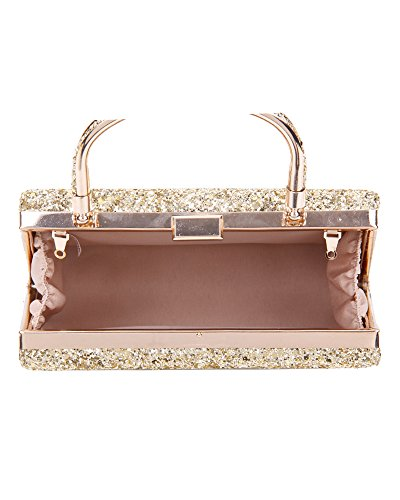 Crystals Shiny Women's Foxlady Clutch Bag silver Wedding Diamante Bag Party Prom Silver Evening 23 Sparkling 8wqa4qY
