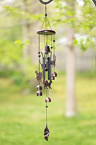 patio, lawn, garden, outdoor décor,  chimes 4 image Dawhud Direct Cats Outdoor Garden Decor Wind Chime in USA