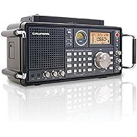 Eton Grundig Satellit 750 Ultimate AM/FM Stereo also Receives Shortwave, Aircraft Bands - Black (NGSAT750B)