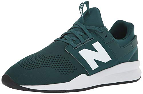 New Balance Men's 247v2 Sneaker, deep Jade/White, 13 D US