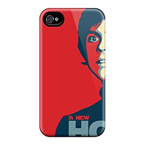 WandaDicks Apple Iphone 4/4s Shock-Absorbing Hard Phone Covers Unique Design High Resolution Star Wars New Hope Series [Saj29415tCpS]