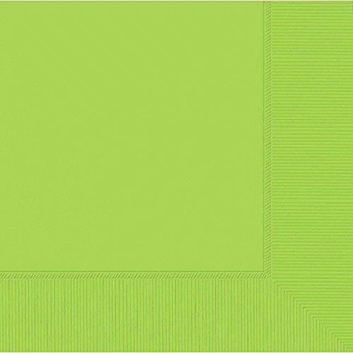 Amscan Kiwi Green 3-Ply Dinner Napkins, 12 Pk. | Party Tableware