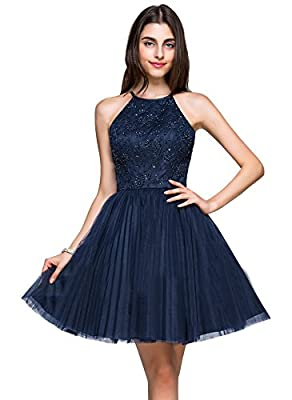 Erosebridal Sexy Keyhole Back Homecoming Dresses Womens'Short Prom Party Gowns
