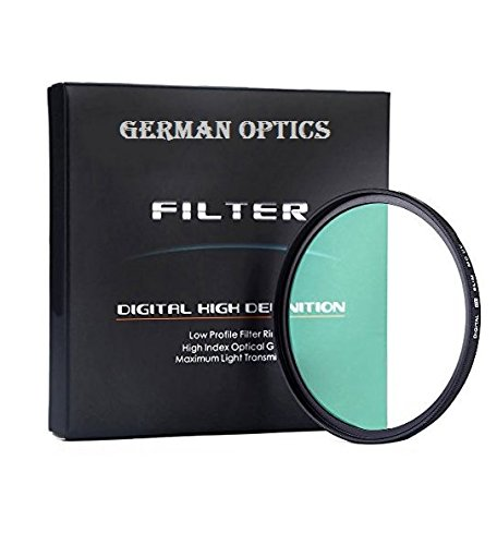 49MM GERMAN OPTICS Multi-Coated Ultra-Slim UV (Ultra Violet) Filter For Canon, Nikon, Sony, Carl Zeiss Lens