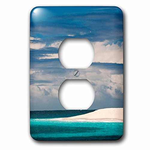 Danita Delimont - Islands - Palm Island, Grenadines, British West Indies - Light Switch Covers - 2 plug outlet cover - Beach Palm Outlets The West