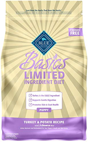 Blue Buffalo Basics Limited Ingredient Diet, Natural Puppy Dry Dog Food, Turkey & Potato 4-lb