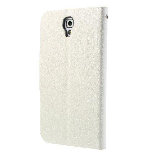 caja del teléfono móvil de la cubierta Caso de Negocio Samsung Galaxy Note 3 Neo 3G / SM-N750, Galaxy Note 3 Neo LTE / GT-N7505 - SOPORTE DEL LIBRO tirón de la caja de blanco