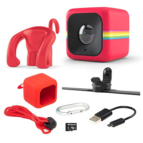 Polaroid Cube Act II - HD 1080p Mountable Weather-Resistant Lifestyle Action Video Camera & 6MP Still Camera w/Image Stabilization, Sound Recording, Low Light Capability & Other Updated Features (Polaroid Sports Camera)