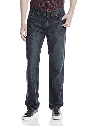 (DKNY Jeans Mens Soho Relaxed Fit Jeans (32 x 34, Dark Black Wash))