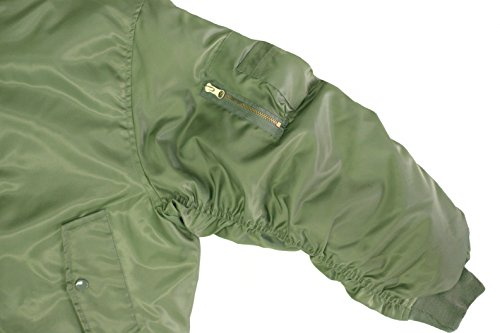 Army Universe Sage Green MA-1 Military Flight Jacket 004c8f44334