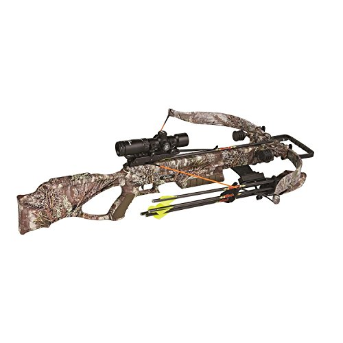 Excalibur Crossbow Matrix 380 Crossbow with Lite Stuff Package Tactical Zone Scope (Draw Weight : 260-Pound), Realtree MAX-1, Recurve