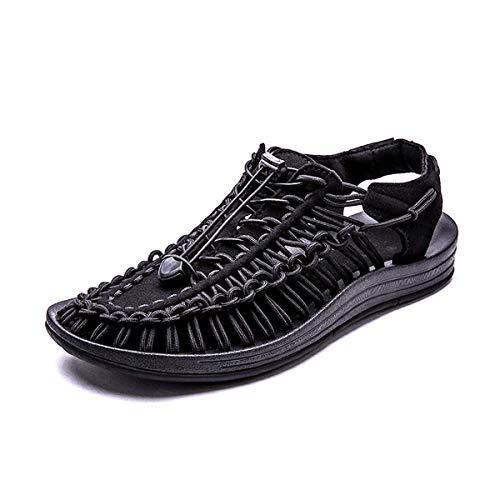 - CHENG XIN Yong Sheng Men's Uneek Sandals Summer Beach Stripes Sandles with Massage Insole Khaki