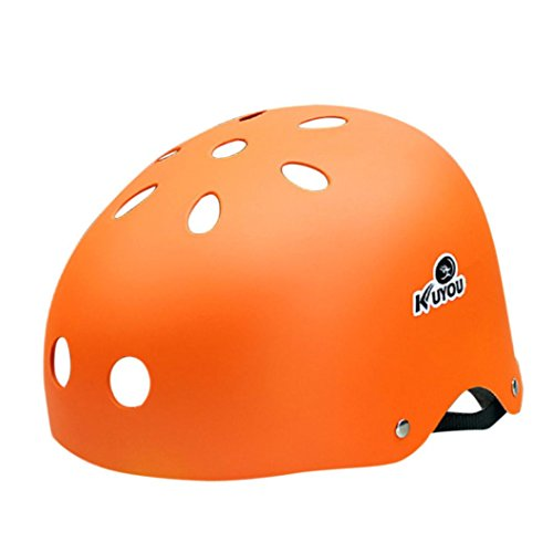 Dreamyth Kids Adult BMX Bicycle Bike Cycling Scooter Ski Skate Skateboard Protect Helmet (Orange)