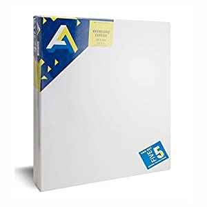 Art Alternatives Economy Artist White Canvas Super Value Pack-16 x 20 inches-Pack of 5