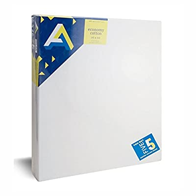 Art Alternatives Economy Artist White Canvas Super Value Pack-16 x 20 inches-Pack of 5