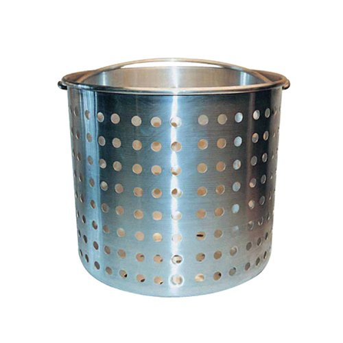 (Winware ALSB-20 Professional Aluminum Steamer Basket Fits 20-Quart Stock Pot, Silver)