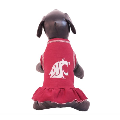 (NCAA Washington State Cougars Cheerleader Dog Dress (Team Color, Small))
