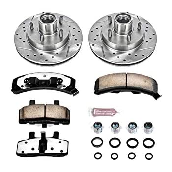Cross Drilled and Slotted Front Rotors 2009 09 2010 10 Mini Cooper S w//294mm Front Rotors ; Excl Fits Max Brakes Front Carbon Ceramic Performance Disc Brake Pads KT116451