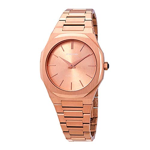 D1 Milano Ultra Thin Rose Gold Ladies Watch A-UTBL02 (Milano Ladies Fashion Watch)