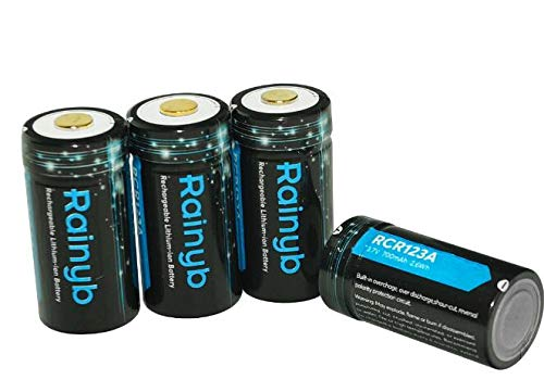 Price comparison product image RCR123A Rechargeable Batteries 750mAh and Arlo Battery Charger - Ultra Fit for Arlo VMC3030 VMK3200 VMS3330 3430 3530 Wireless Security Cameras (4PCS Set)