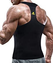 Compression Top Men Neoprene Sauna Suit Shirt Hot Sweat Vest Abdomen Weight Loss Tank Tops