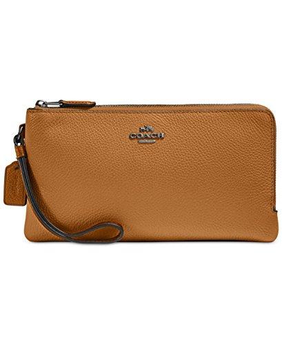 COACH Women's Color Block Double Zip Wallet Sv/Light Saddle Chalk Wallets by Coach