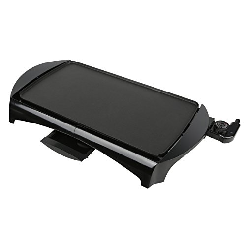 Brentwood TS-820 Electric Griddle Non-Stick, with Drip Pan, 10 x 20 Inch, Black