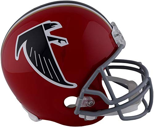 (Sports Memorabilia Riddell Atlanta Falcons Throwback 1966-1969 VSR4 Full-Size Replica Football Helmet - NFL Replica Helmets)