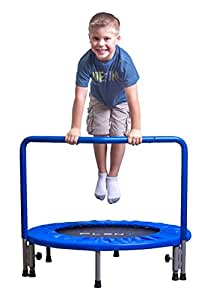 PLENY 36-Inch Kids Mini Trampoline with Handle, Safety and Durable Toddler Trampoline - 3 Colors Available, Boys, Navy Blue