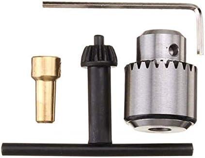 ドライバーセット、0.3-4mmマイクロモータードリルチャッククランプ、キーおよび1/8インチシャフトコネクティングロッドドリル付き