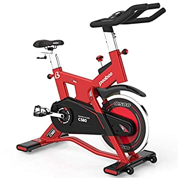 pooboo Pro Indoor Cycling Bike, Belt Drive Exercise Bike Stationary,40lb flywheel Smooth Commercial Standard with LED Display Bicycle Heart Pulse Trainer