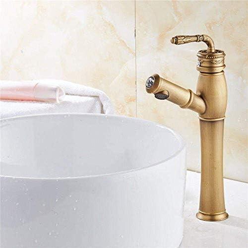 HXC-HXC 浴室台所の蛇口用タップ真鍮引き出しアンティークリトラクタブルシングルハンドルシンクの蛇口 蛇口