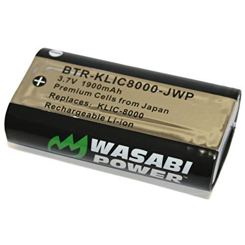Wasabi Power Battery for Kodak KLIC-8000, KLIC8000 and Kodak EasyShare Z612, Z712, Z740, Z812 is, Z1012 is, Z1015 is, Z1085 is, Z8612 is, Zx1, ZxD