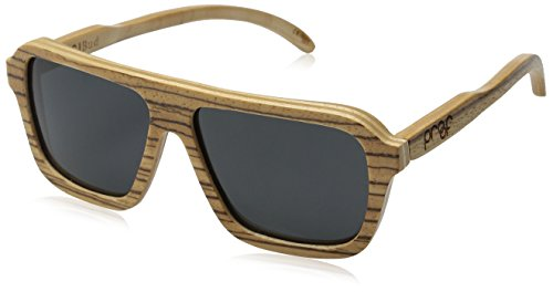 Proof Bud Polarized Oval Sunglasses,Stained Bamboo & Grey,57 - Proof Bamboo Sunglasses