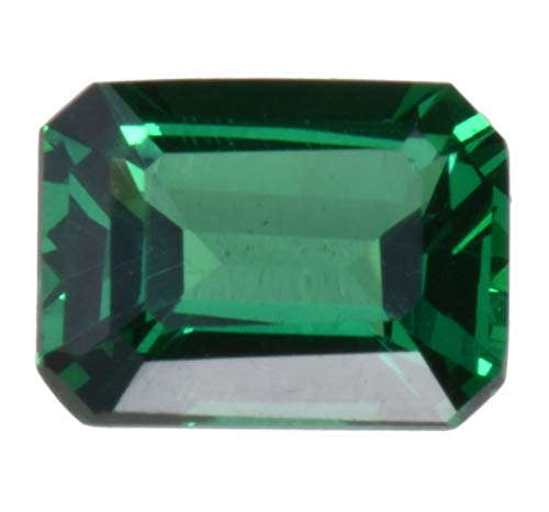 uGems Simulated Emerald Faceted Stone Small Octagon 8mm x 6mm